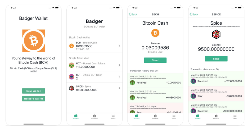 Badger Wallet App On iOS devices