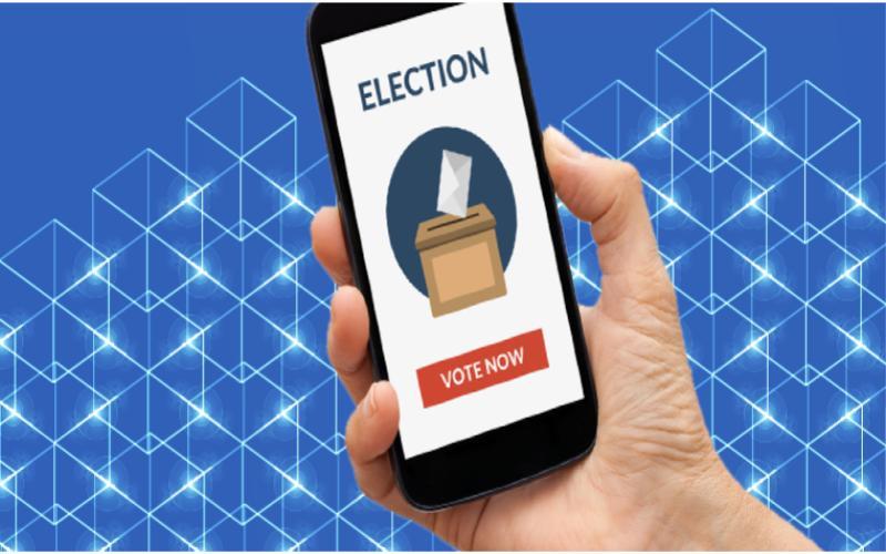 Blockchain voting app