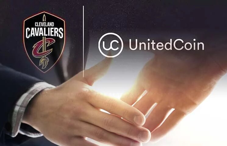 Cleveland Cavaliers shook hands with UnitedCoin