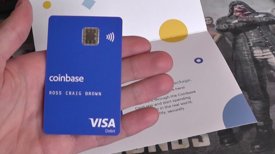 Coinbase crypto debit card