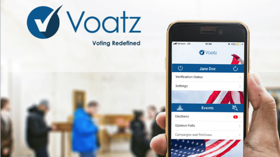 Blockchain voting using Voatz
