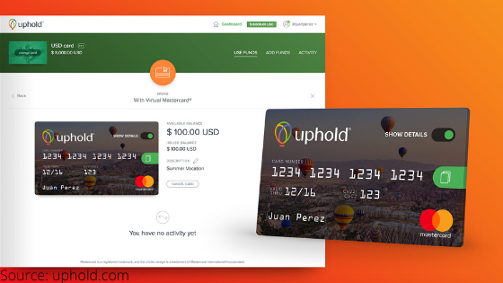 Uphold's new debit card lets you pay with bitcoin, xrp, and gold